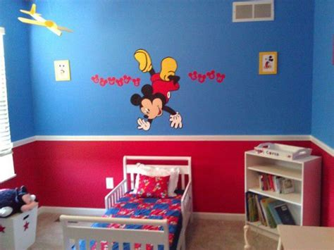 mickey mouse bedroom decorating ideas gavin s big boy room with the mickey mouse i painted