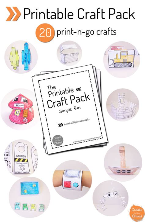 crafts printables printable craft pack create in the chaos