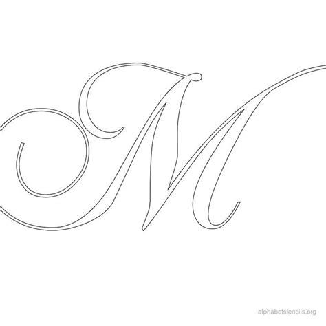 6 best images of monogram letter m stencils printable