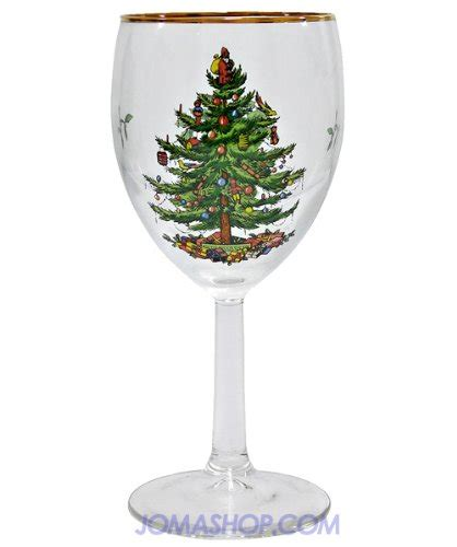 spode christmas tree wine glass set of 4 spxtwg spode spode