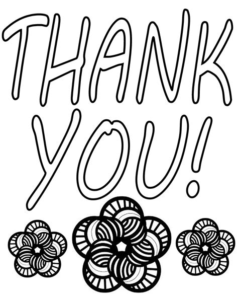 thank you coloring pages printable captures marvelous totercomposter
