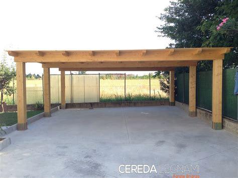 tettoie auto legno tettoia legno per auto cereda legnami agrate brianza