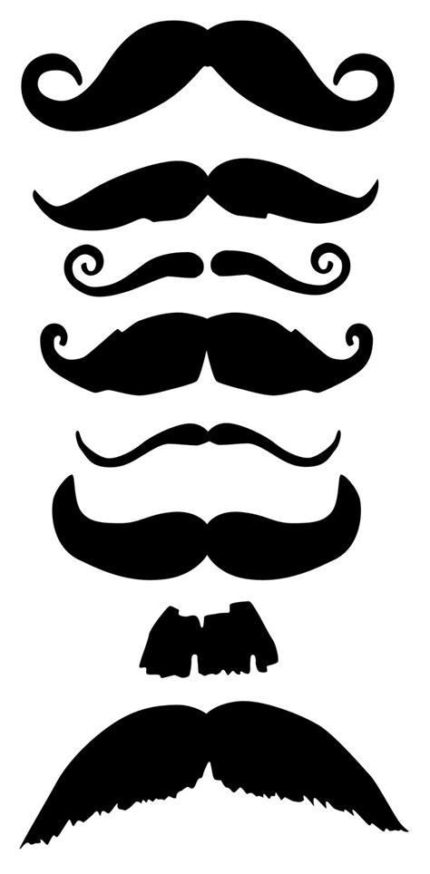 free mustache template large mustache template clipart best