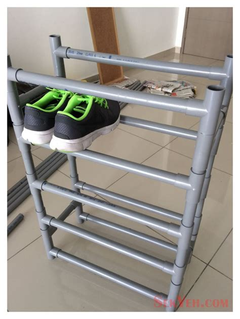 shoe rack pvc pipe 15 must see pvc shoe racks pins vertical shoe rack kitchen space savers and holiday storage