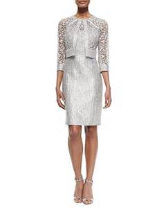 kay unger sequined lace jacket amp sequined lace bodice