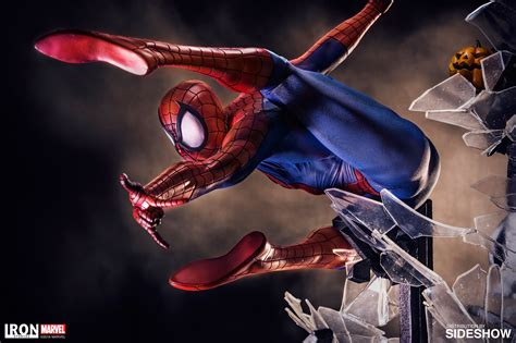iron man marvel studios marvel spider man polystone statue by iron studios