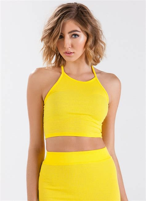 best yellow yellow halter top wardrobe mag