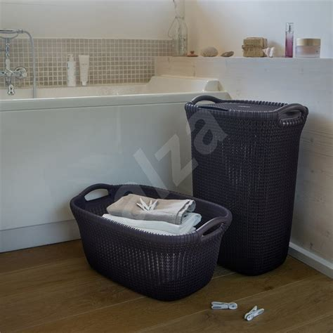 Curver Knit Laundry Knit 57l Purple Laundry Basket Curver Laundry