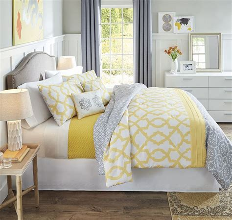 25 best ideas about yellow and gray bedding on
