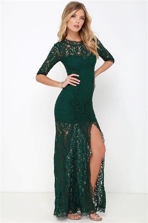 P156 L Dress Lace Green gorgeous green dress lace dress half sleeve dress