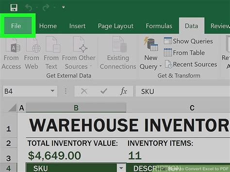 how to convert pdf table to excel sheet 2 easy ways to convert excel to pdf wikihow