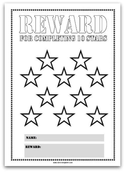 printable star reward chart top 25 best reward chart template ideas on pinterest
