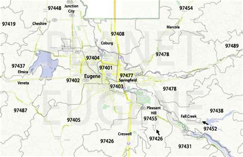map of eugene oregon zip codes zip codes map planet eugene oregon