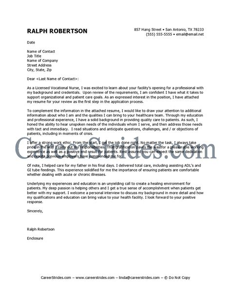 Occupational Health Resume Cover Letter Cover Letter Sle Cover Letter Templates