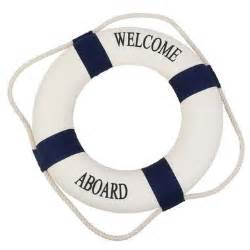 welcome preserver ring decor buoys