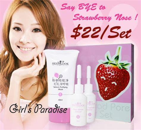 Strawberry White Mask it s a s paradise sexylook strawberry white