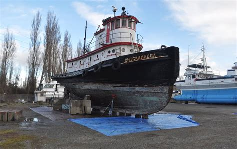 small boats for sale ny updated historic tug chickamauga dismantled two pieces