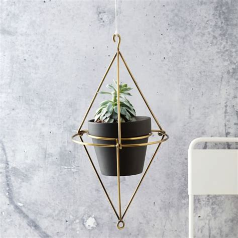 Wire Pot Hangers Hanging Wire Pot Bracket Plated Brass West Elm