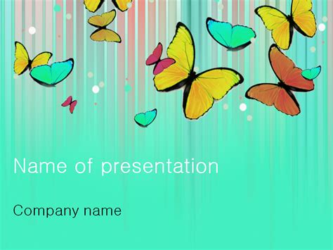 download free colourful butterfly powerpoint template for
