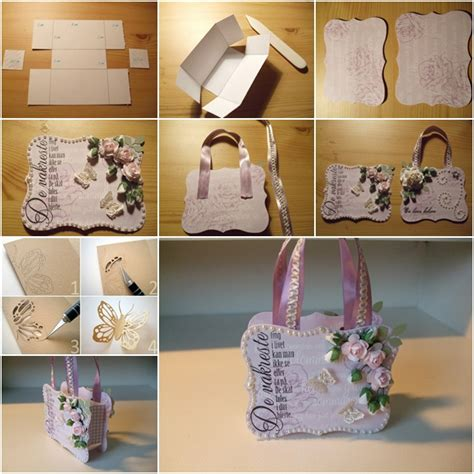 How To Make A Handbag With Paper - how to make beautiful paper gift handbag fab diy