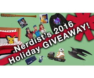 Nerdist Sweepstakes - win 1 of 5 huge nerdiest prize packs with over 45 prizes free sweepstakes contests