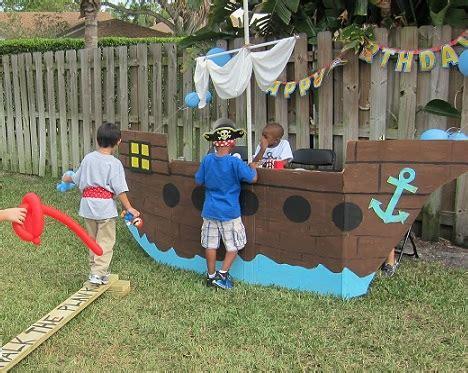 barco pirata hecho en carton cumplea 241 os de piratas para ni 241 os