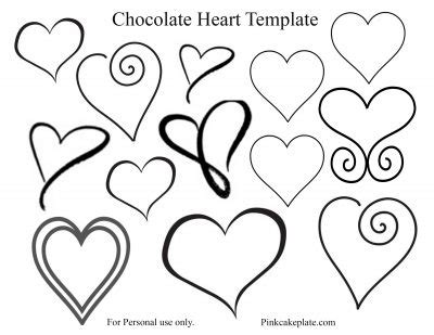 easy chocolate heart tutorial and template pink cake plate