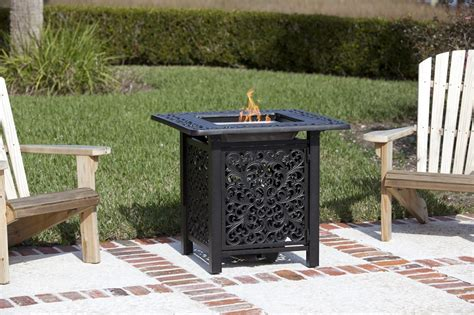Cast Aluminum Outdoor Fireplace by 32 Quot Sanremo Cast Aluminum Outdoor Bistro Lpg Outdoor Pit