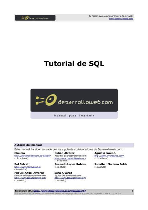 tutorial video sql manual tutorial sql