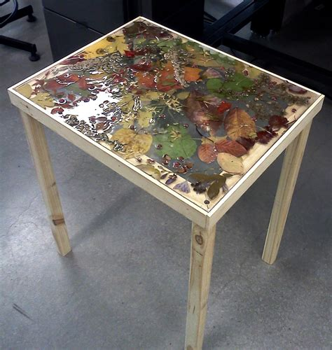bench top ideas resin ideas pressed leaves and plants in resin on