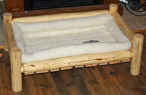 log dog bed handmade rustic log pet beds by the rustic woodshop