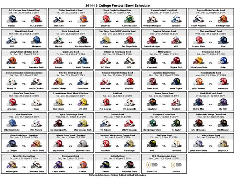printable bowl games 7 best images of 2015 bowl schedule printable college