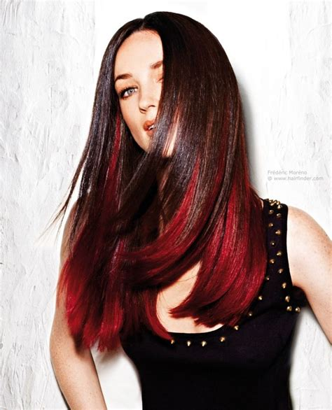 Brown With Red Underneath Hair | 25 best ideas about red hair underneath on pinterest