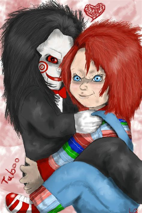 chucky x jigsaw by taboochildsplay on deviantart
