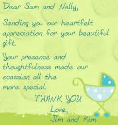 Baby Gift Card Sayings - highly appreciated baby shower thank you note wordings card sayings gifts and note