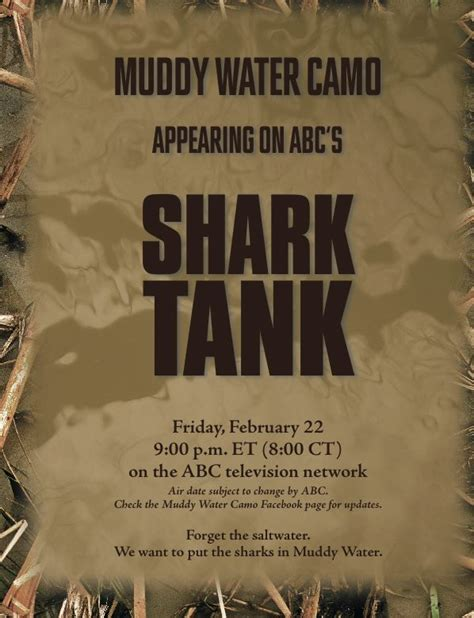 muddy water camo review duck camouflage gear shark tank