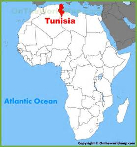 where is tunisia in the world map tunisia location on the africa map