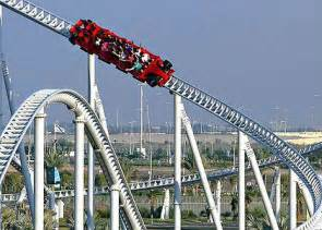 Roller Coaster World Abu Dhabi A Ride On The Formula Rossa Rollercoaster At World