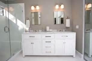 Contemporary gray amp white bathroom remodel contemporary