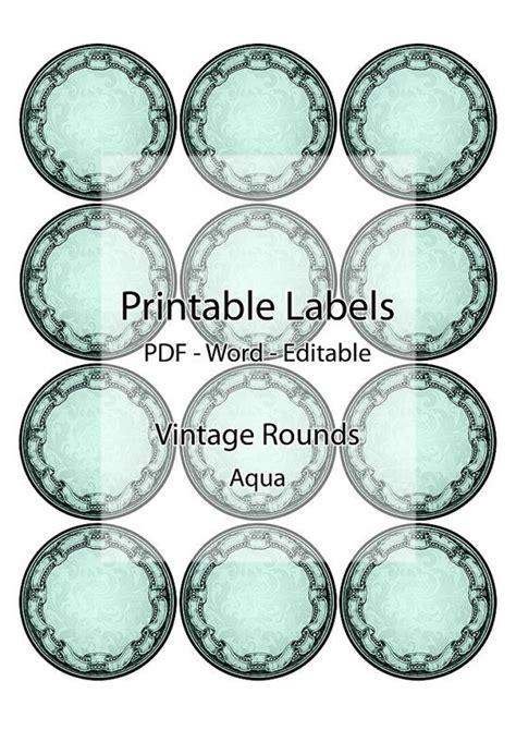 printable labels for jar lids round labels jar container printable editable label