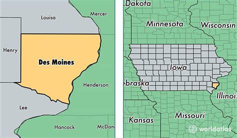 map of des moines iowa des moines county iowa map of des moines county ia