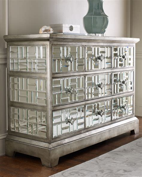 old hollywood mirrored bedroom furniture gatsby beveled mirrored chest 5 drawer hollywood regency