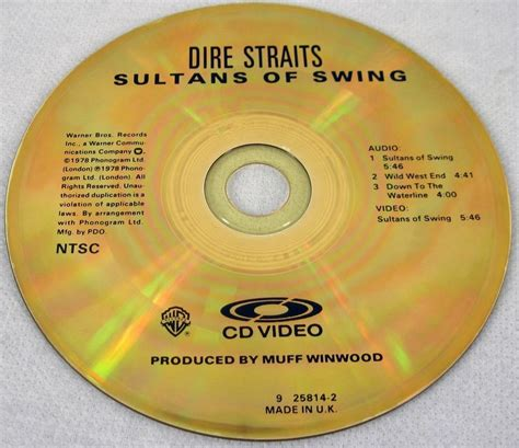 dire straits sultans of swing cd dire straits 1987 sultans of swing cd cdv ntsc cd