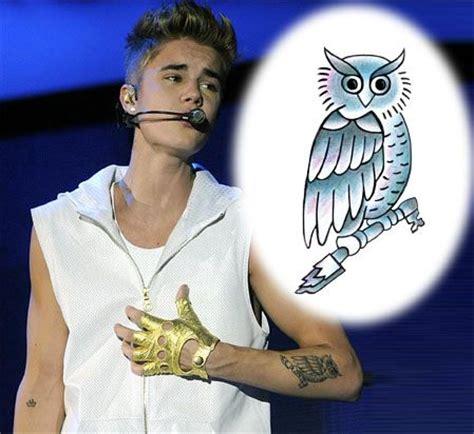 justin bieber owl tattoo instagram justin bieber owl temporary tattoo alan pinterest