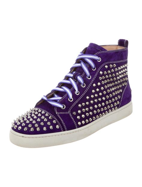 christian louboutin louis flat spikes sneakers shoes cht69943 the realreal