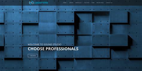 studio templates free sound studio free bootstrap template gridgum