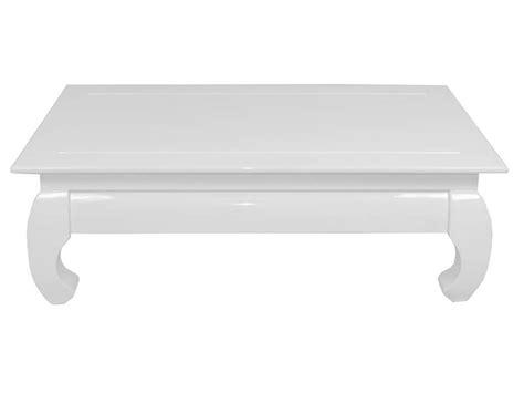 table basse rectangulaire opium coloris blanc chez conforama
