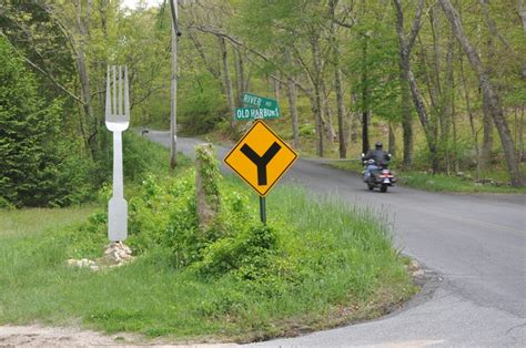 A Place Westport Ma The Literal Fork In The Road Westport Ma Cool Roads The Streets