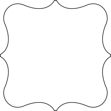 fancy card shape template shape template free printable clipart best