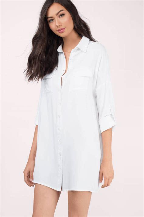Aline Button Dress trendy white day dress button up dress 28 00